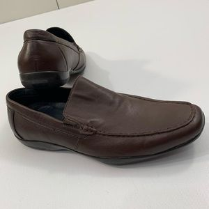 Alfani 7 1/2 brown leather loafers dress shoes